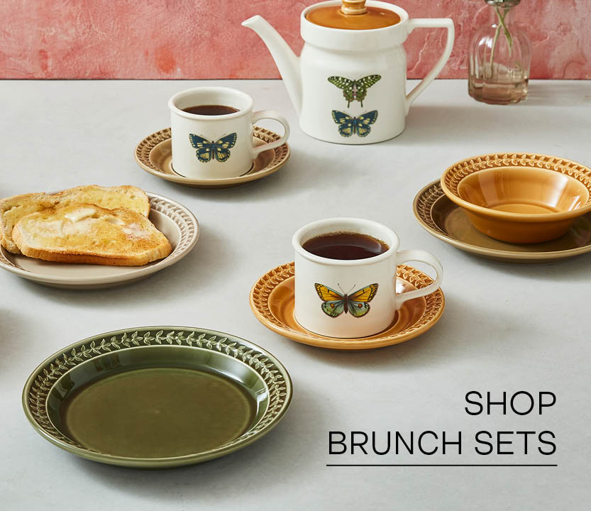 From baked eggs to croissants, enjoy your morning meal with delightful tableware. Discover our dishes that perfect for brunching.